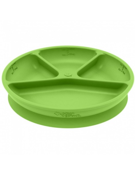 Green Sprouts - Silicone divided suction Learning Plate - Green