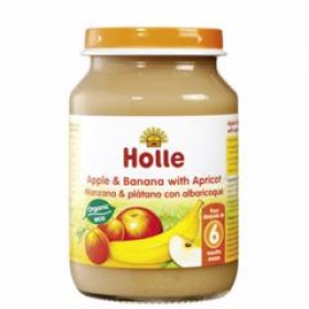Holle Apple Banana & Apricot 190g 6+M