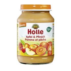 Holle Apple & Peach 190g 4+M