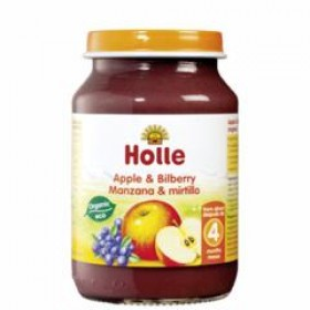 Holle Apple & Bilberry 190g 4+M