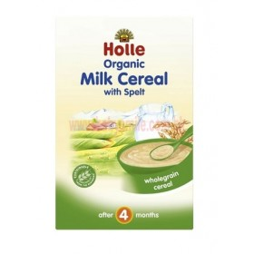HOLLE ORGANIC MILK CEREAL WITH SPELT 4+ 250G