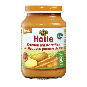 HOLLE ORGANIC POTATO&CARROT 4+ 190G