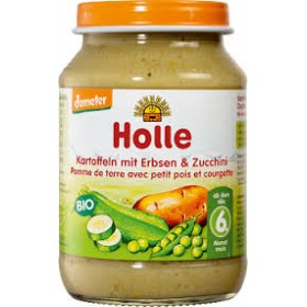 HOLLE ORGANIC POTATOES,PEAS & ZUCCHINI 6+ 190G
