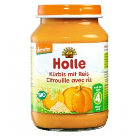 HOLLE ORGANIC PUMPKIN WITH RICE 4+ 190G
