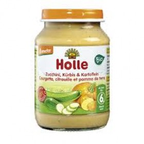 HOLLE ORGANIC ZUCCHINI, POTATO, PUMPKIN  4+ 190 G