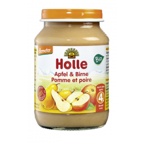 Holle Apple & Pear 190g 4+M