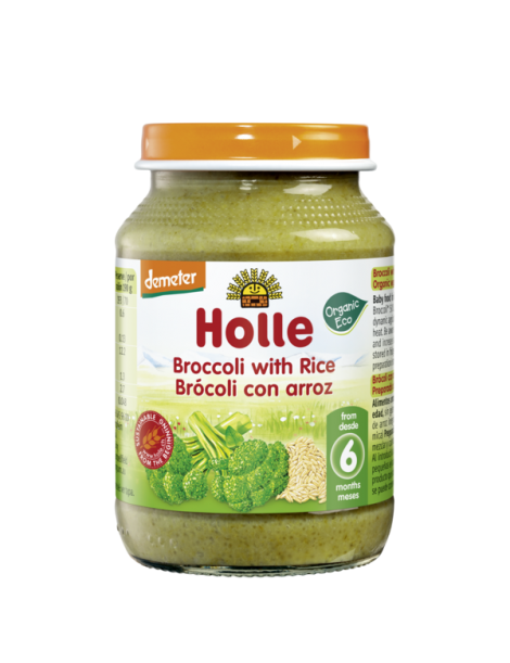HOLLE BROCCOLI WITH RICE 4+ 190G