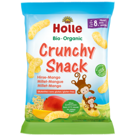 HOLLE ORGANIC CRUNCHY SNACK WITH MANGO  8+ 25G
