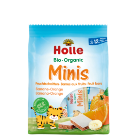 HOLLE ORGANIC MINIS BANANA-ORANGE 12+ 100G