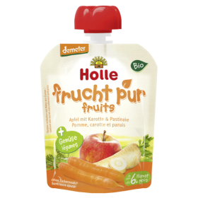 HOLLE ORGANIC POUCH APPLE,CARROT&PARSNIP  6+ 90G