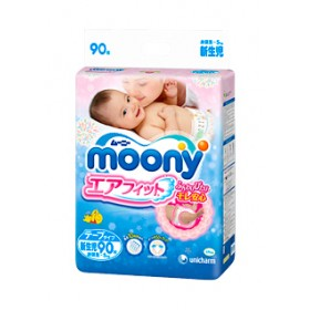 Moony NEWBORN (0-5 kg) 90 pcs