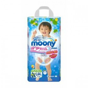 Moony pull-up nappies boys L (9-14) 44 pcs