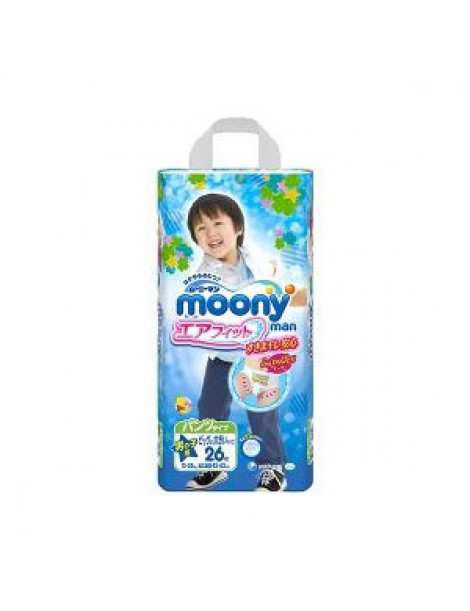 Moony pull-up nappies boys XXL (13-25 kg) 26 pcs