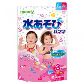 Moony girls aqua L (9-14 kg) 3 pcs
