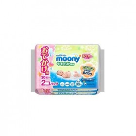 Moony wet tissues (soft travel pack) 30x2 pcs