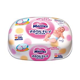 Merries wet tissues (hard case) 54 pcs