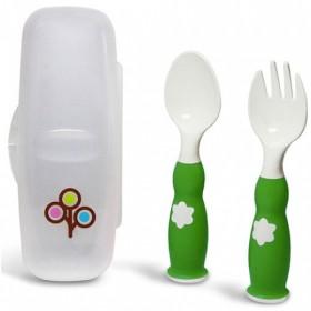ZoLi - FORK & SPOON - ergonomic fork & spoon set - Green