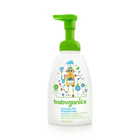BabyGanics foaming dish & bottle soap 473 ml FF