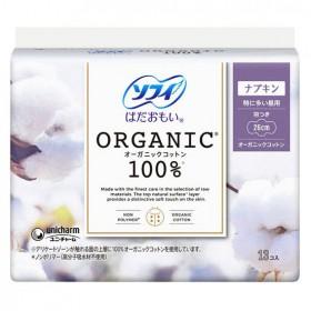 Unicharm Organic Sanitary pads with wings 26 cm