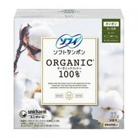 Unicharm Organic Cotton tampons for heavy days 27 pcs